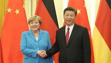 Xi meets Merkel, calls for higher-level China-Germany ties