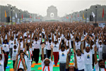 World strikes pose for Yoga Day