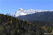 Scenery of Yulong snow mountains in Lijiang, SW China's Yunnan