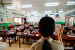 In pics: story of Chinese volunteer teachers at China-aided elementary school in Laos