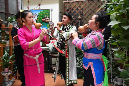 Hulusi, a traditional Chinese musical instrument popular among ethnic minorities in Yunnan