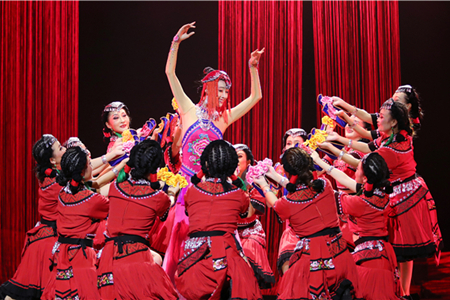 Music and dance drama staged featuring costumes of Yi people