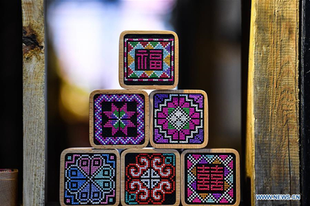 Intangible cultural heritage inheritor promotes traditional Yi embroidery in Yunnan