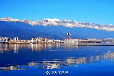 Snowy sights of Cangshan and Erhai in west Yunnan