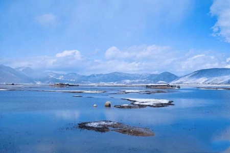 Beautiful snowscape seen in northwest Yunnan