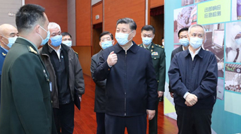 Xi stresses COVID-19 scientific research during Beijing inspection