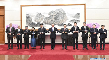 Chinese FM meets ASEAN diplomatic envoys