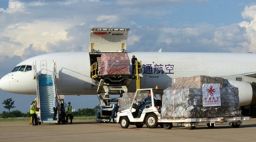 Anti-epidemic supplies donated by Chinese gov't arrive in Laos